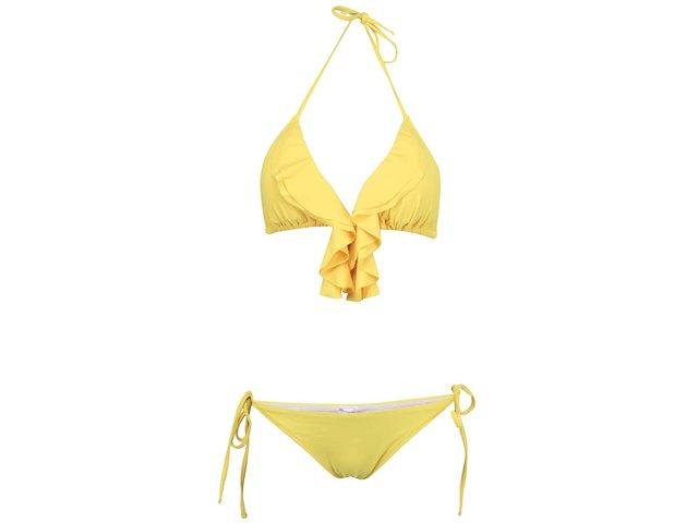 Žluté plavky s nařasením Relleciga Cherry