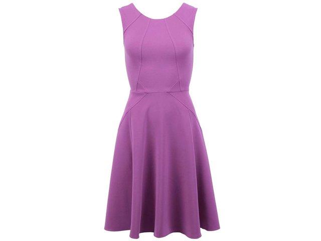 Fialové šaty se zipem na zádech Closet