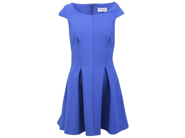 Modré šaty se zipem na zádech Closet