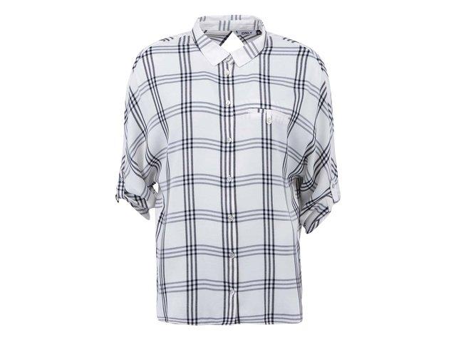 Krémová kostkovaná košile ONLY Suki