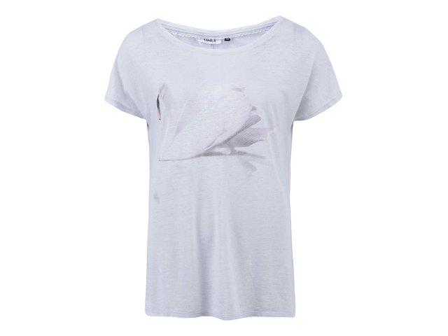 Šedé tričko s labutí ONLY Indie