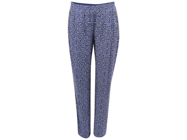 Modré vzorované kalhoty ONLY Frida