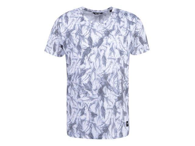 Bílé triko s potiskem s kapsou ONLY & SONS Dinko
