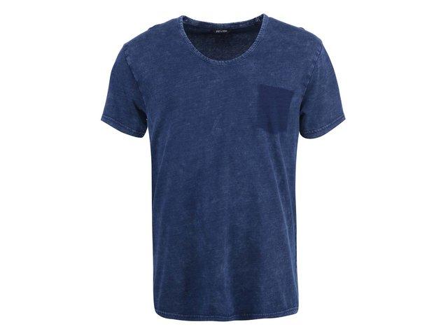 Modré triko s designem kapsy ONLY & SONS Lathan