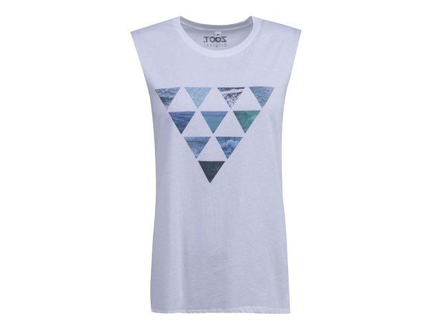 Bílé dámské tílko ZOOT Originál Trojúhelníky