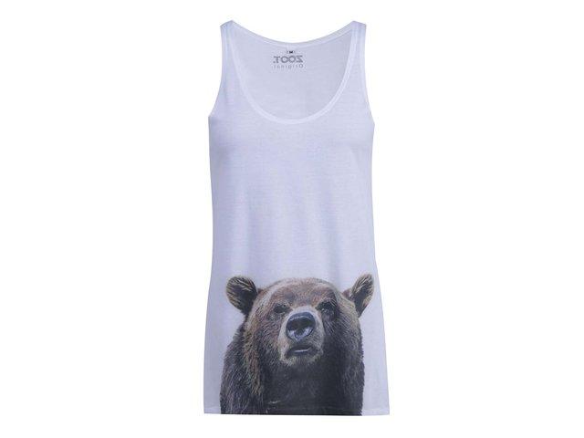 Bílé dámské tílko ZOOT Originál Medvěd