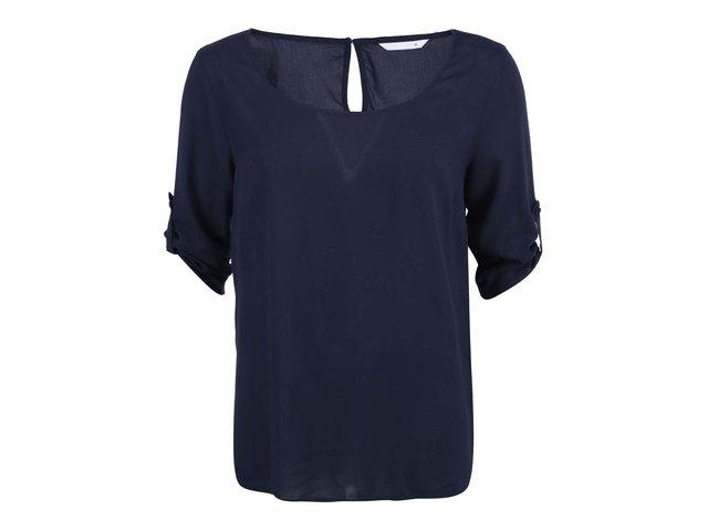 Tmavě modré volnější tričko s 3/4 rukávem ONLY Geggo