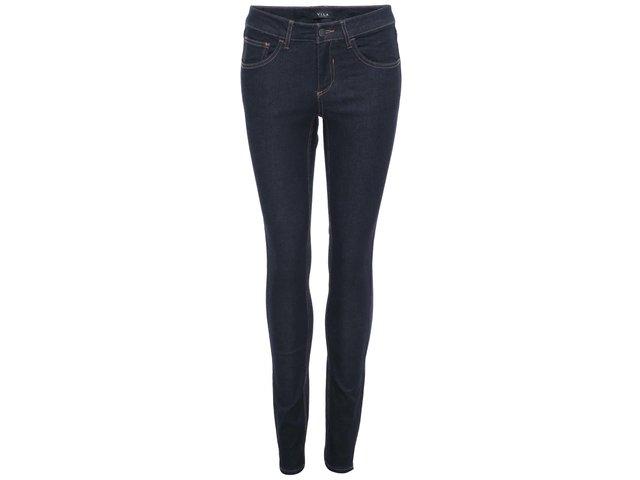Tmavě modré slim džíny VILA Commit