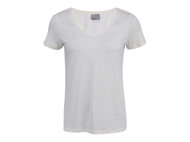 Krémové tričko Vero Moda Molly