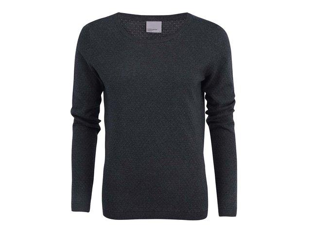 Tmavě šedý vzorovaný svetr Vero Moda Care