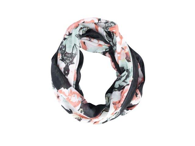 Barevný květovaný kruhový šátek Pieces Line