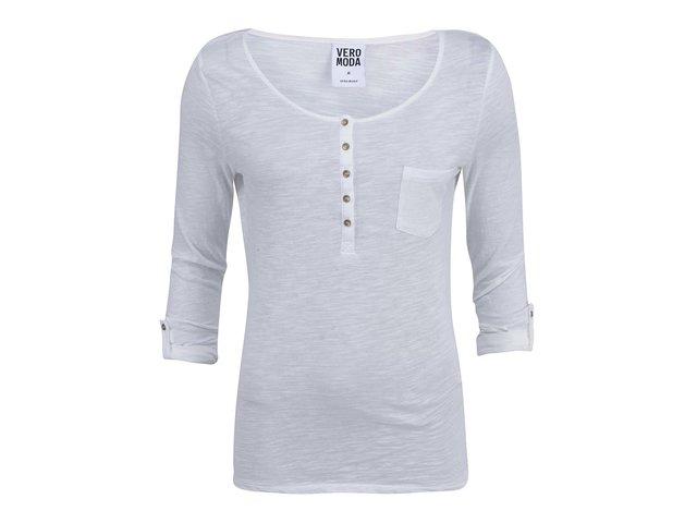 Bílé tričko s 3/4 rukávem Vero Moda Lucky
