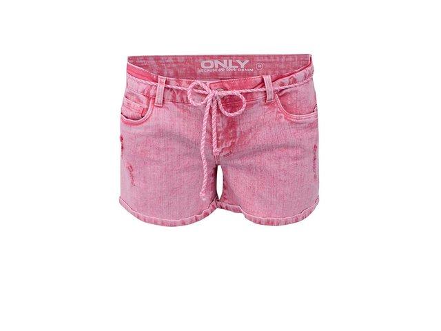 Růžové džínové kraťasy ONLY Carrie