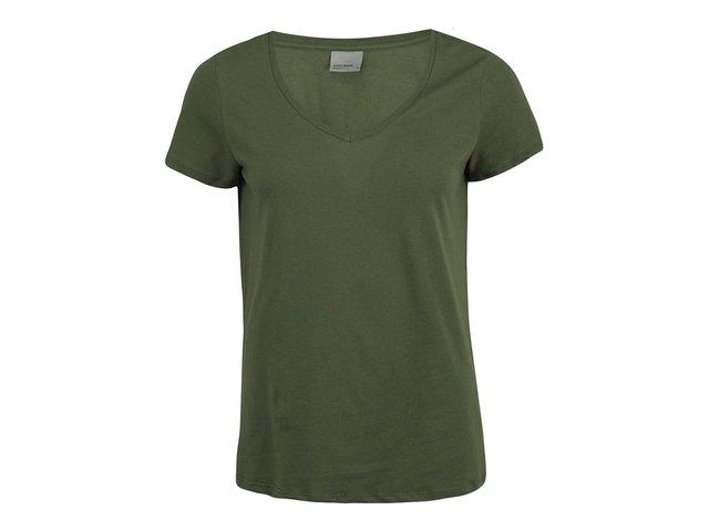 Khaki tričko Vero Moda Molly