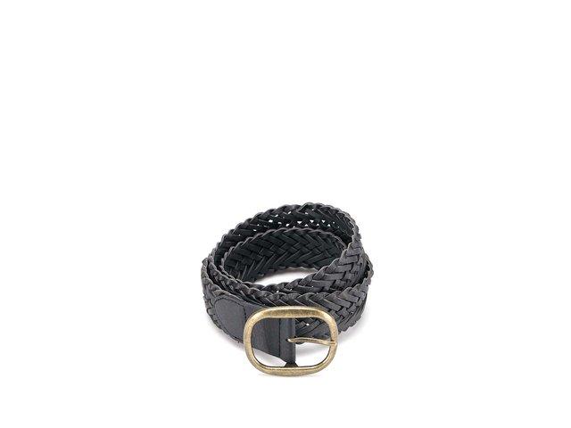Černý pletený pásek New Look