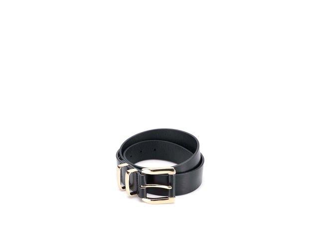Černý pásek se sponou ve zlaté barvě New Look