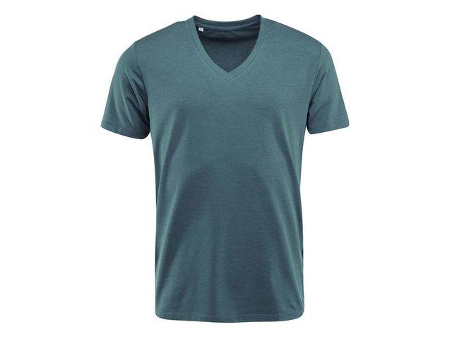 Modré triko s výstřihem do