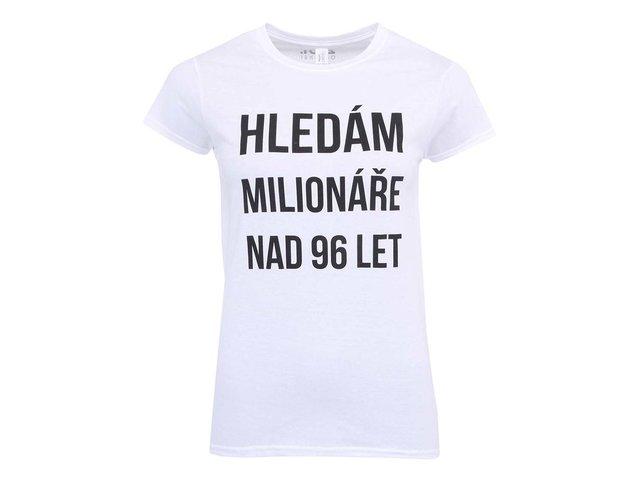 Bílé dámské tričko ZOOT Originál Hledám milionáře