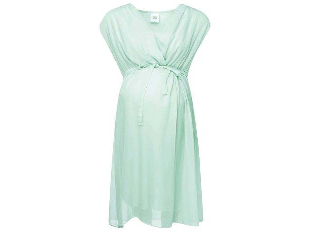 Mentolové těhotenské šaty Mama.licious Cala