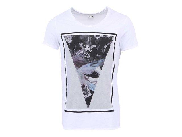 Bílé triko s potiskem Jack & Jones Innocent