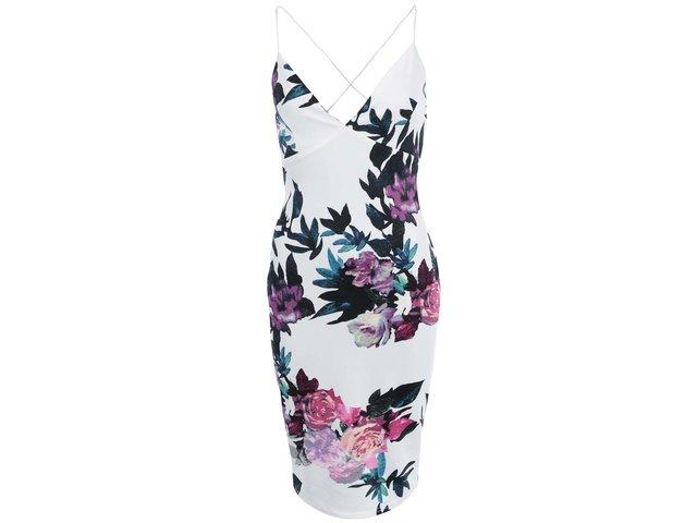 Bílé šaty s květy AX Paris