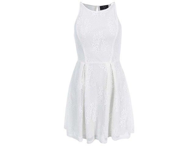 Bílé krajkované šaty AX Paris