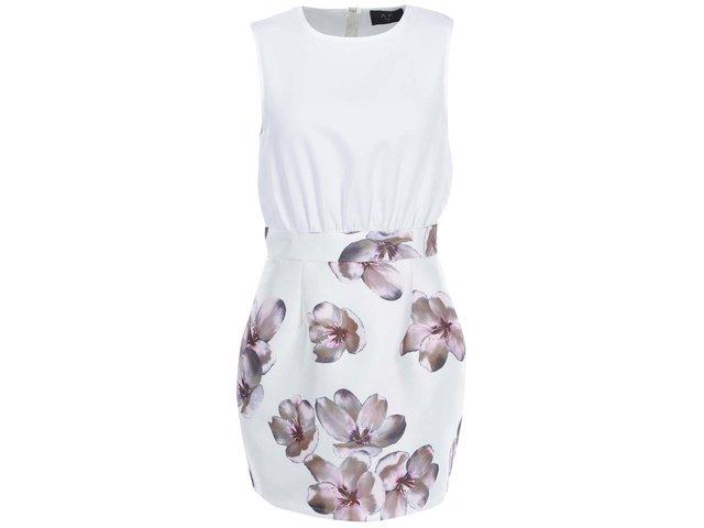 Krémové šaty s růžovými květy AX Paris
