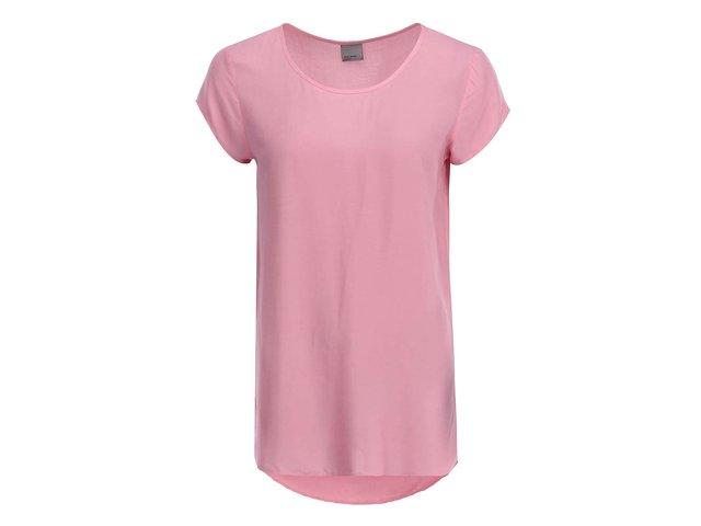 Růžový volnější top Vero Moda Boca