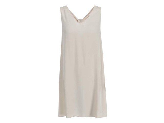Béžové volnější šaty Vero Moda Siri