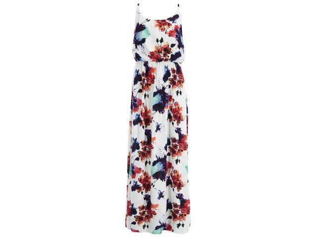 Bílé květované maxišaty Vero Moda Easy