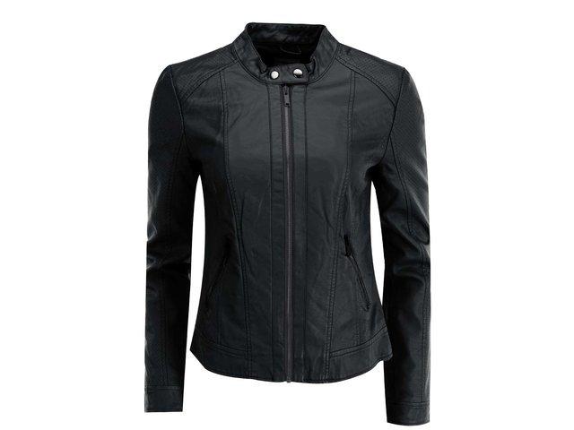 Černá koženková bunda Vero Moda Babe