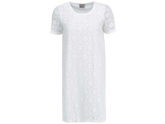 Bílé krajkované šaty Vero Moda Lace
