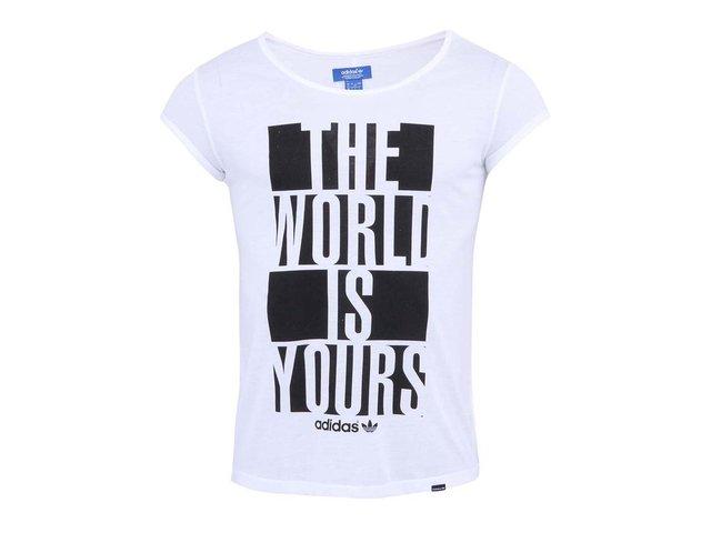 Bílé dámské tričko s potiskem adidas Originals Its Yours Tee