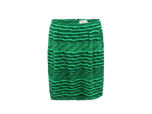 Zelená úpletová sukně s plastickým vzorem Skunkfunk Kyla