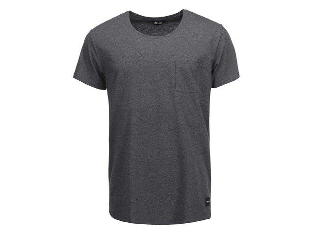 Tmavě šedé triko s kapsou ONLY & SONS Cave