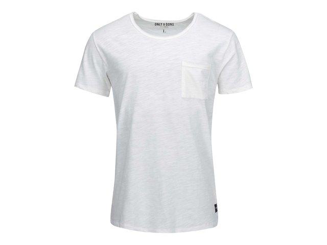 Krémové triko s kapsou ONLY & SONS Thue