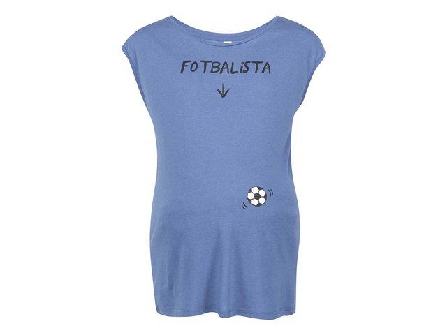 Modré těhotenské tričko ZOOT Originál Fotbalista