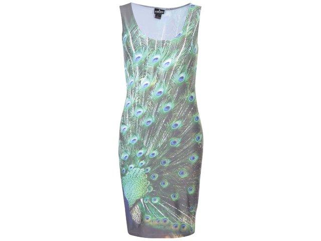 Zelené šaty s pavími pery Mr. Gugu & Miss Go Peacock