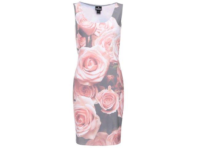 Hnědé šaty s růžemi Mr. Gugu & Miss Go Roses