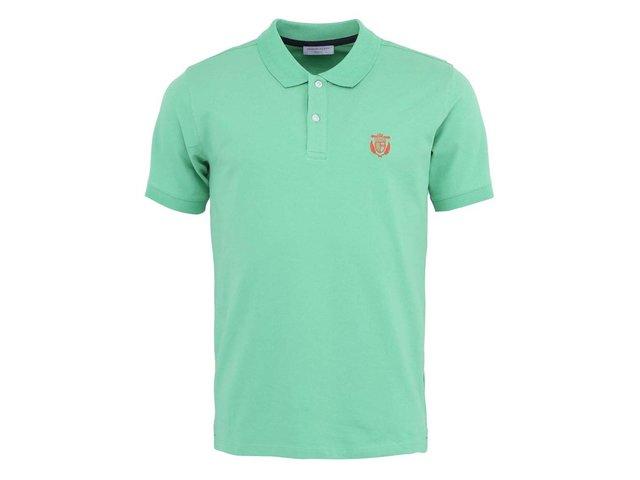 Světle zelené polo triko Selected Aro