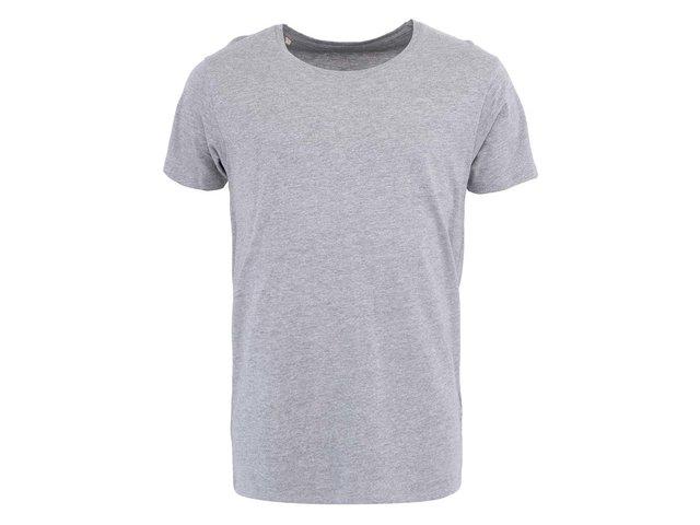 Světle šedé triko Selected Pima