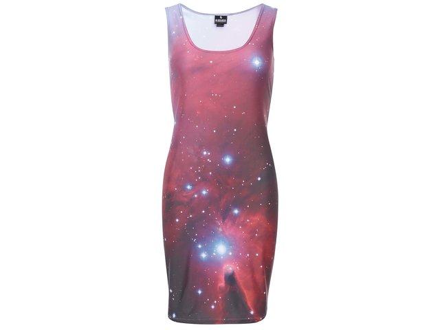 Hnědo-červené šaty s vesmírným motivem Mr. Gugu & Miss Go Nebula