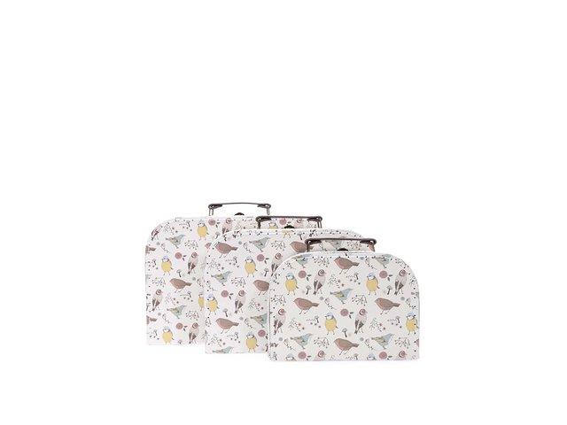 Sada tří kufříků s ptáčky Sass & Belle