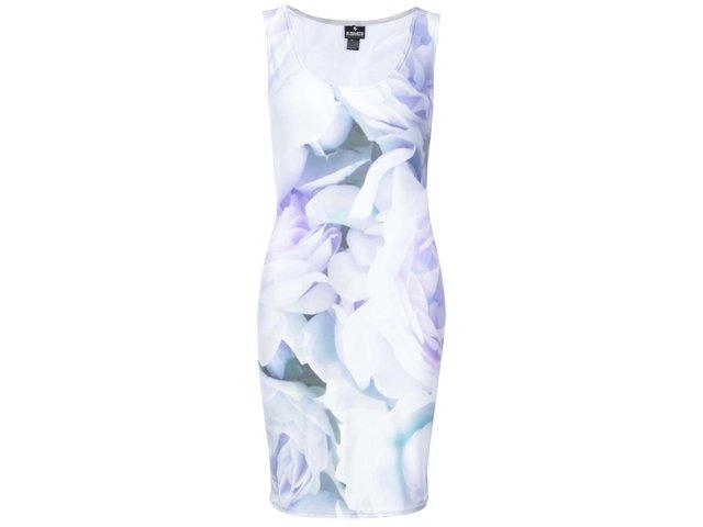 Krémovo-fialové květované šaty Mr. Gugu & Miss Go Flowers pastel