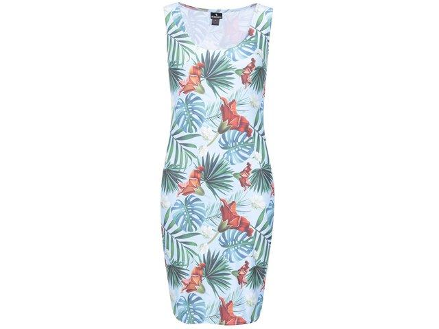 Modré šaty s tropickým potiskem Mr. Gugu & Miss Go Tropical paradise