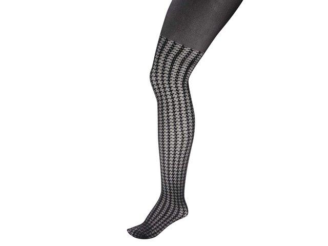 Černé punčochy s kohoutí stopou Andrea Bucci