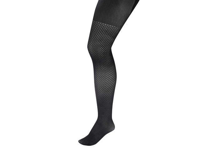 Černé punčochy s jemným vzorem Andrea Bucci
