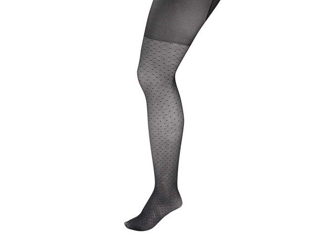 Černé punčochy s drobným vzorem Andrea Bucci