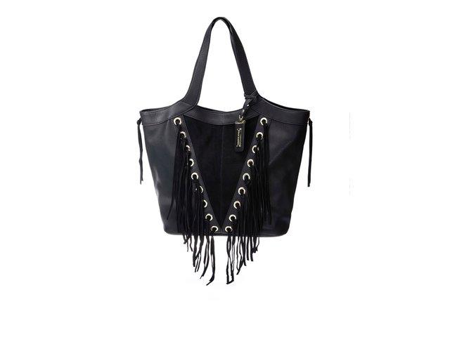 Černá menší kožená kabelka oválného tvaru s hadím vzorem Vagabond ... 8d93352b58b