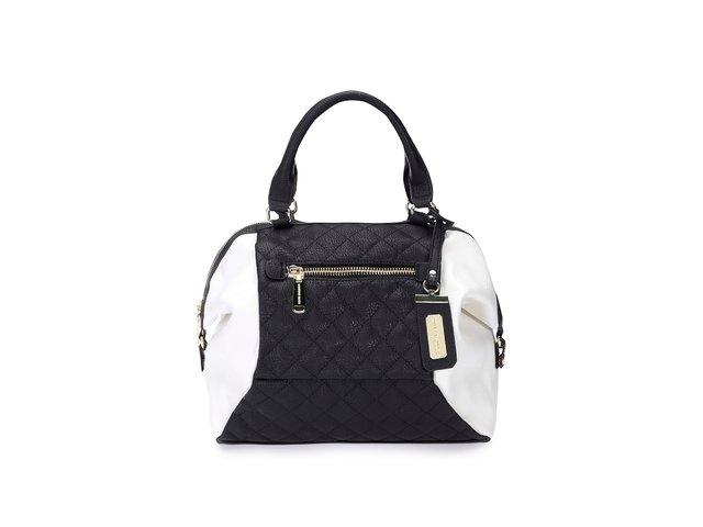 Bílo-černá menší kabelka Steve Madden Katee